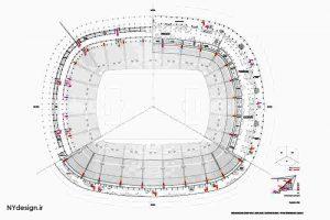 طراحی اولیه ورزشگاه بارسلونا طراحی شده توسط Francesc Mitjans